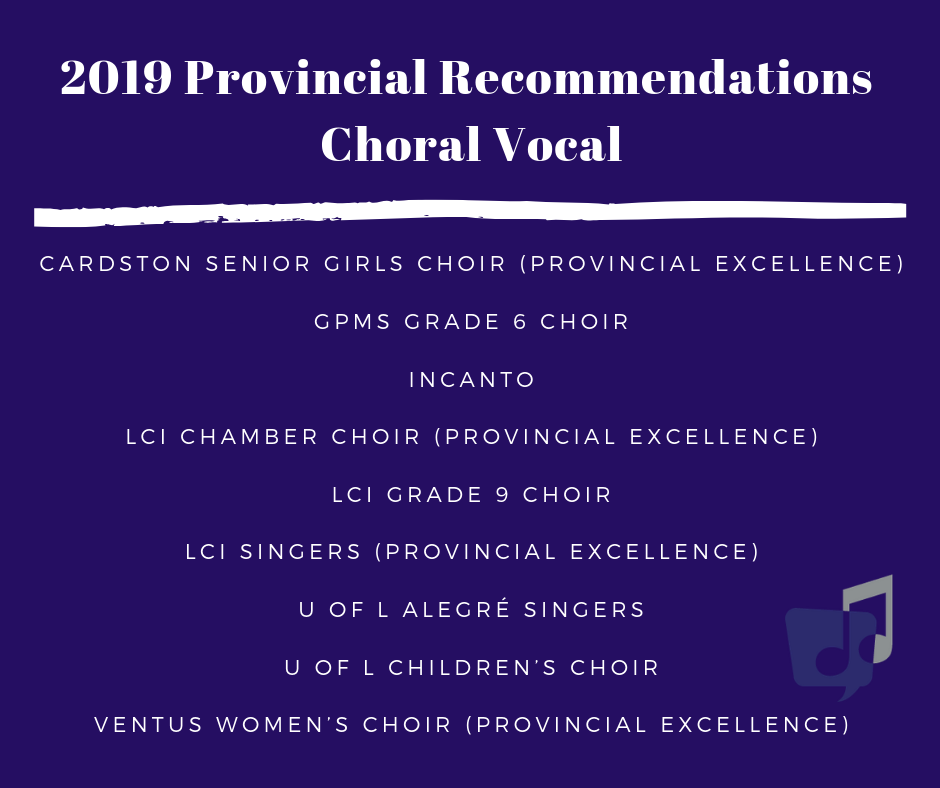 2019 Choral Vocal